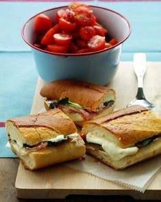 Enjoy all kinds of warm and toasty variations on grilled cheese sandwiches and Italian panini recipes. Try croque monsieurs, grilled vegetable panini, Reubens, and more. Every sandwich and panini recipe is the perfect accompaniment to your favorite soup or salad. Shaved deli ham, baby spinach, and double layers of fresh mozzarella on a loaf of Italian bread make a satisfying sandwich for four. No need for a panini press: this is toasted in the oven between two baking sheets.
