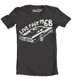 b9219616 Women's Live Fast Ford Mustang Muscle Car T-Shirt