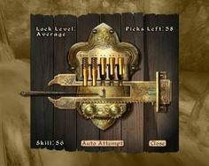 Oblivion: How to Pick Locks Successfully. Oblivion, Safe Door, Medieval Games, Giant Bomb, Bethesda Games, Mini Games, Elder Scrolls, Skyrim, Locks