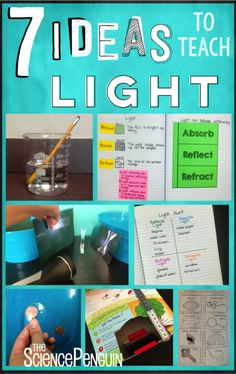 7 Ideas for Light-- video clips, activities, vocabulary,  a free sort, and a…