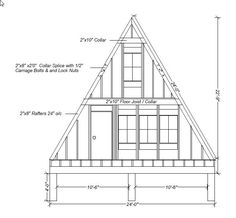 A frame construction plans our a frame cabin a frame elevations and sketche Tyni House, Tiny House Cabin, Cabin Homes, Log Homes, Interior Tropical, A Frame Cabin Plans, Front Elevation, Home Design Plans, Small House Plans