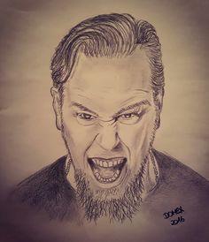 Domex ink Tattoo Zeichnung Portrait James Hetfield Metallica