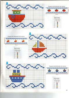 Cross Stitch Sea, Small Cross Stitch, Cross Stitch Letters, Cross Stitch Flowers, Cross Stitch Charts, Easy Cross Stitch Patterns, Bead Loom Patterns, Knitting Patterns, Cross Stitching
