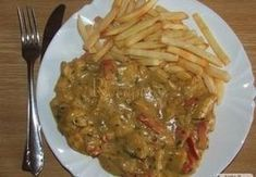 Maso se smetanovo-hořčičnou omáčkou Czech Recipes, Food And Drink, Chicken, Kochen, Kai