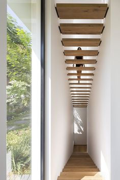 Modern House Stairs Design New Photos Wooden Stairs With Black Supports Lead You To The Upper Floor Of Modern House Design, Modern Interior Design, A As Architecture, Escalier Design, Modern Stairs, Interior Stairs, House Stairs, House 2, Staircase Design