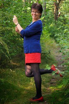 Langarmshirt: s.Oliver  Rock: ALBA MODA ROSSO  Strumpfhose: nur die  Ballerinas: Hispanitas