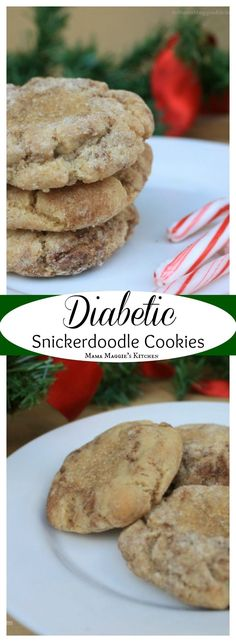 Diabetic Snickerdoodle Cookies - low carb and delicious cookies. by Mama Maggie's Kitchen #lowcarb #diabetic #diabeticdesserts #lowcarbdesserts #christmascookies