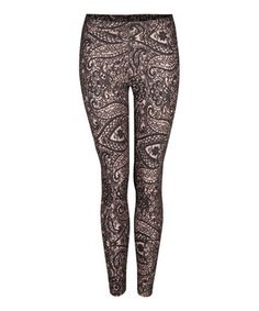 Look what I found on #zulily! Dex Taupe Paisley Jacquard Leggings by Dex #zulilyfinds
