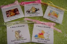 Winnie the Pooh Baby Shower Tea Party Favors