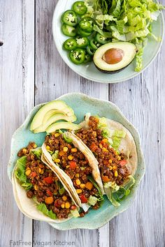 Pinquito Bean and Quinoa Taco Filling - an easy vegan taco or burrito filling that you can make with your choice of beans.