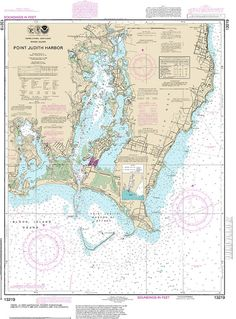 Official Noaa chart for Point of Judith Harbor by HyannisMarina
