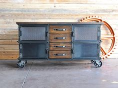 Large ellis console by Vintage Industrial...