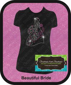 Beautiful Bride Rhinestone Tshirt