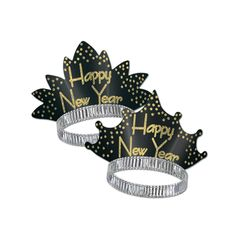 Sparkling Gold New Year's Eve Tiaras (50ct)