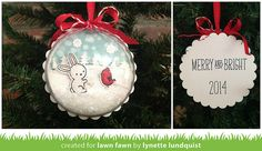 This is such a fun idea - a Christmas card that can be used as a bauble