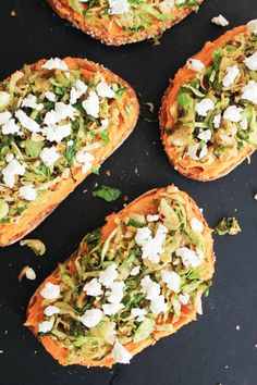 Sweet potato hummus, toasted Brussels sprouts, and goat cheese
