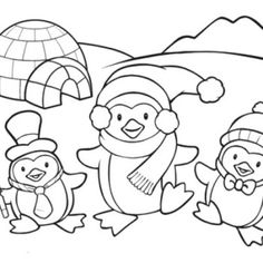 cute penguin family coloring page - Penguin Coloring Sheet