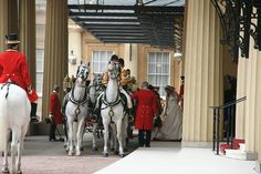 The Royal Procession arrives at Buckingham Palace by The British Monarchy, via Flickr. Wedding Day.