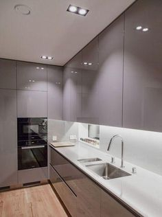 44 Fascinating Kitchen Glass Surfaces Design Ideas - Are you looking for a truly stunning finish to your top spec interior design project? Then look no further than bespoke glass surfaces. These decorati. Kitchen Room Design, Luxury Kitchen Design, Best Kitchen Designs, Kitchen Cabinet Design, Home Decor Kitchen, Interior Design Kitchen, New Kitchen, Kitchen Ideas, Kitchen Grey