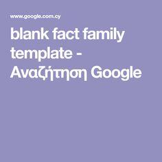 blank fact family template - Αναζήτηση Google