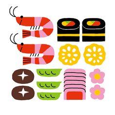 Sushi illustration -- Shunsuke Satake