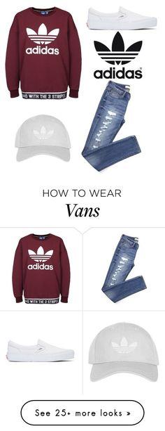 """Adidas/Vans"" by clairathegreat on Polyvore featuring adidas Originals, Vans, Topshop and adidas"