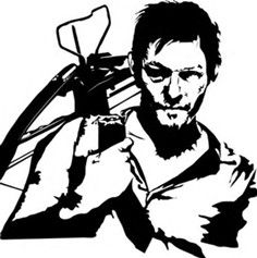 Image result for Daryl Walking Dead Stencils