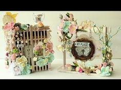 Beautiful ShabbyChic swap projects for Rina Mayers | Vintage | Victorian Romance - YouTube