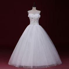 Wedding dress new 2016 bride married white large size banded pregnant women Korean style chest wedding dress