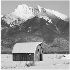 Old Barn in the Mission Range Valley, Montana.