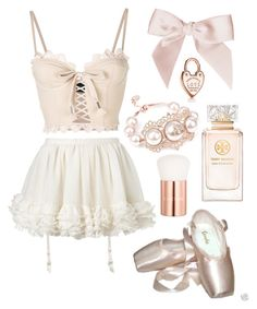 """rose gold ballerina ♡"" by sylvialulamae ❤ liked on Polyvore featuring Puma, La Perla, Sansha, Lancôme, Vivienne Westwood, Tory Burch, Tiffany & Co., cute, girly and ballerina"