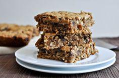 Oatmeal Peanut Butter Snack Squares I howsweeteats.com