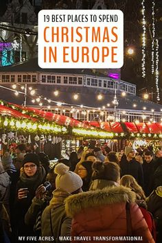 19 Best Places to Spend Christmas in Europe - - Christmas city breaks, sunny beach escapes, and fairytale landscapes. these are the best places to spend Christmas in Europe for a perfect winter holiday. Christmas In Europe, Christmas Travel, Christmas Markets, Holiday Travel, White Christmas, European Road Trip, European Travel, European Vacation, Europe Travel Guide