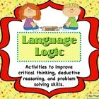 Challenge your students with these deductive reasoning logic activities.  Students help the babies find their favorite toy, determine the 4 day for...