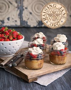 Gluten-free Summer Berry Shortcakes:  Prep Time: 30 Minutes  Cook Time: 25 Minutes  Makes: Eight 8-oz Jars