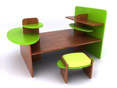 Mesa de desenho infantil. #3dsmax