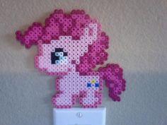 Chibi Perler Bead Ponies: Pinkie Pie by ThePerlerPony
