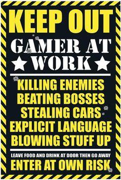 Poster från Gaming - Keep Out