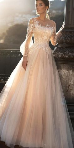 30 Cute Modest Wedding Dresses To Inspire ❤ modest wedding dresses a line wit. - 30 Cute Modest Wedding Dresses To Inspire ❤ modest wedding dresses a line with illusion long sleeeves lace blush naviblue Source by - Wedding Dress Trends, Modest Wedding Dresses, Bridal Dresses, Maxi Dresses, Dress Wedding, Tulle Wedding, Summer Dresses, Bridesmaid Dresses, Wedding Ideas