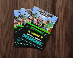 http://thepodomoro.com/collections/birthday-invitation/products/minecraft-birthday-invitation