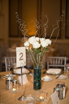 Table Number Design | Lisa + Doug | March 1, 2014 | Reston, VA
