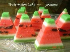 Watermelon Cake Recipe - Steamed Cakes/Kueh