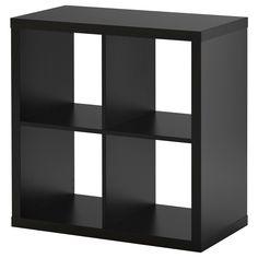 KALLAX Polcos elem - fekete-barna - IKEA