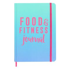 """The perfect gift idea for fitness lovers who want to keep a record of their diet and workout routines. This stylish notebook is part of exclusive """"No Sweat"""" collection and it coordinates perfectly with an array of gym and workout accessories. Fitness Diary, Fitness Journal, Food Journal, Journal Diary, Weight Loss Workout Plan, Weight Loss Plans, Notebooks For Sale, Workout Accessories, Keep Fit"""