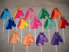 1 chocolate Rainbow Brite horse head molded lollipops lollipop | sapphirechocolates - Edibles on ArtFire
