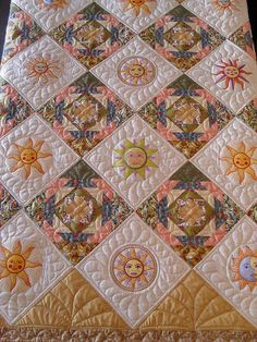 Citrus Sun | Pieced by Sheila Vanderlaak Quilted by Jessica'… | Flickr