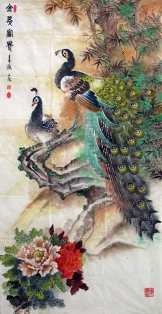 Peacock Peahen,69cm x 138cm(27〃 x 54〃),2621004-z