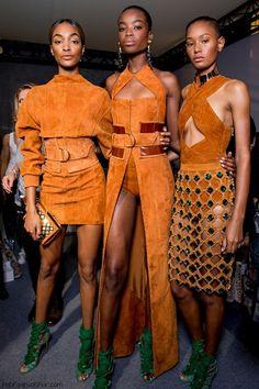 Backstage at Balmain spring/summer 2016 collection - Paris fashion week. #balmain