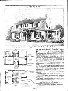Gambrel House Plans besides Gambrel Roof House Plans as well Cotswold Cottage Plans besides 140346855887 also Architecture Floor Plans. on vintage house plans dutch colonial