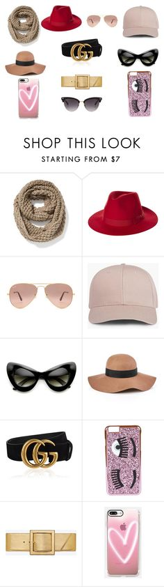 """""""Accesorios"""" by espejo-diana on Polyvore featuring moda, Old Navy, Brixton, Ray-Ban, ZeroUV, Reiss, Gucci, Chiara Ferragni, Yves Saint Laurent y Casetify"""